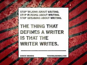 writer writes